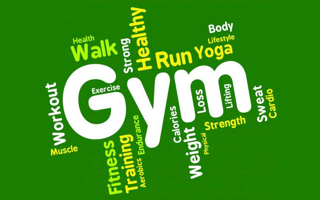 Fitness/excercise word cloud