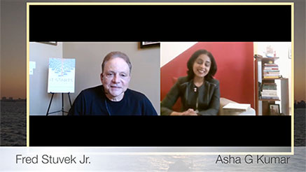 Screenshot from the video interview of Fred Stuvek on The Writer Talks!